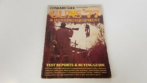 1977 Guns + Hunting Equipment Consumer Guide Great Illustrations Vtg Magazine S8
