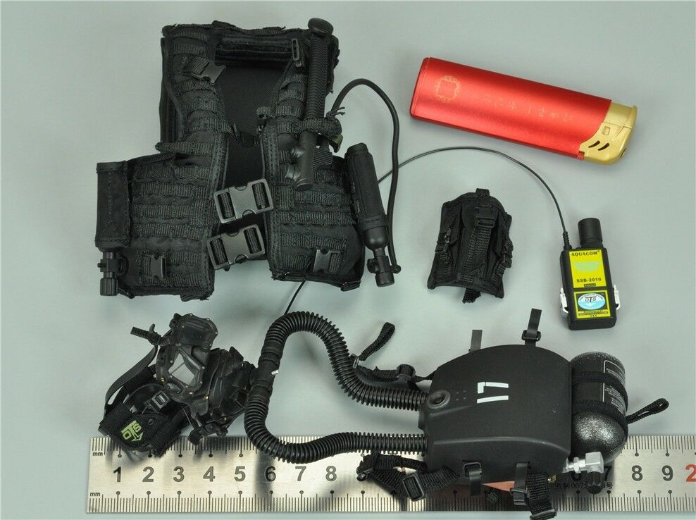 Vest & Rebreather System & Transceiver for DAM 78055 1/6 Scale Figure 12''