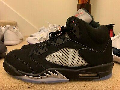 innovative design 1215d 635d4 Nike Air Jordan 5 V Retro OG Metallic Black Fire Red Silver 845035-003  Men's 16 | eBay