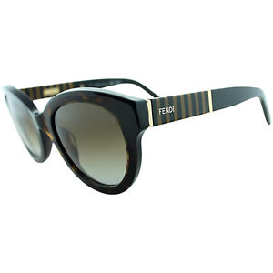 b10f223150f9 Image is loading FENDI-FS-5351-214-Havana-Rounded-Sunglasses-51-