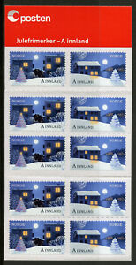 Norway-2017-MNH-Christmas-In-City-amp-Countryside-10v-S-A-Booklet-Trees-Stamps