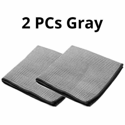 2PCS Car Cleaning Towel Washing Cloth Rag Dry Microfiber Ultra Absorbent Soft