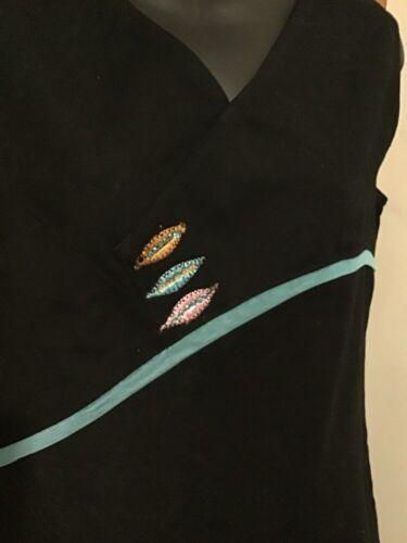 10 Bnwt Enjoy Designer Asymmetric Blue Tunic Embroidered 12 Top dZ70qOZxw