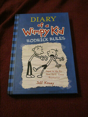 Diary Of A Wimpy Kid Rodrick Rules By Jeff Kinney 2008 Hc First Print Book 2 9780810993136 Ebay