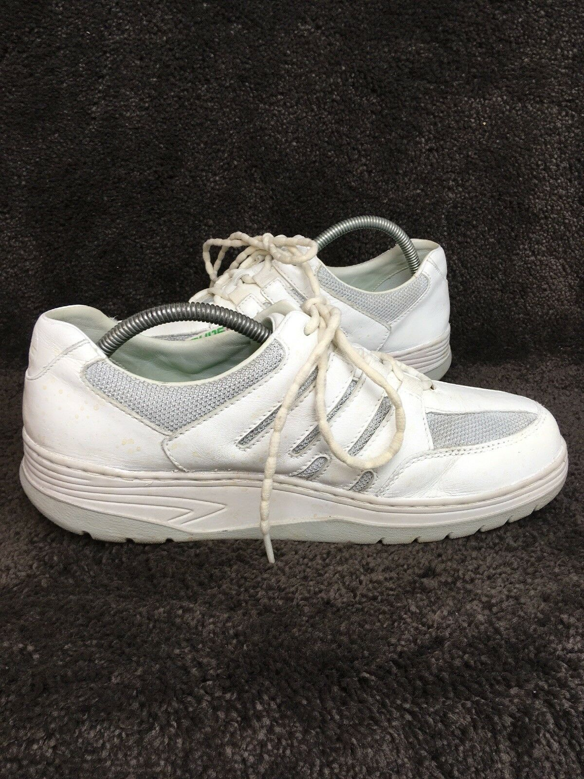 Sano Mephisto White Leather Leather Leather Nurse Walking Rocker Comfort Sneakers shoes US 8.5 21abaa
