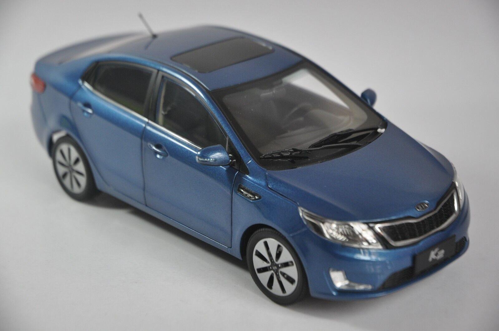 marca de lujo KIA K2 K2 K2 coche modelo en escala 1 18 Azul  protección post-venta