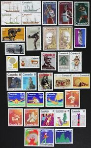 CANADA-Postage-Stamps-1975-Complete-Year-Set-collection-Mint-NH-See-scans