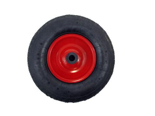 "Trolley Wheel Barrow 1/"" BORE 12/"" METAL Pneumatic Wheel 4.00-6"