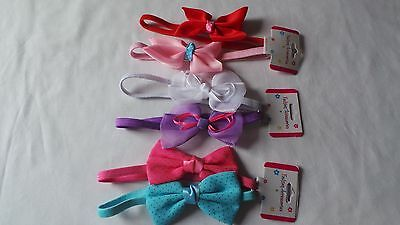 2 Pz Bimba Neonato Elastico Bow Hairband Cerchietto Alice Headress-