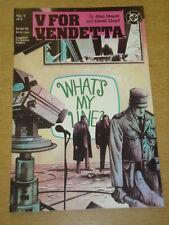 V FOR VENDETTA #5 DC COMICS ALAN MOORE DAVID LLOYD DECEMBER 1988 X