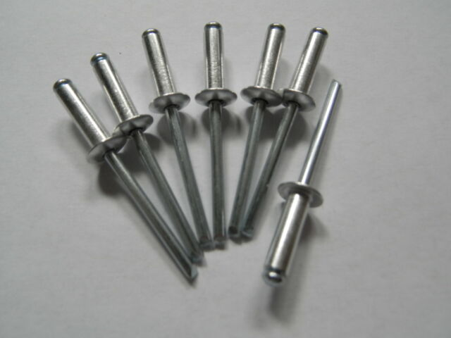 50 Blindnieten 4,8x8 Popnieten 4,8 x 8 Alu/Stahl