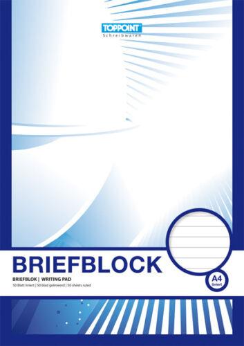 4 Briefblöcke Briefblock liniert DIN A4 Schreibblock