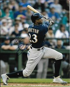 4035a2f44f9 Image is loading KEON-BROXTON-signed-autographed-MILWAUKEE-BREWERS -8x10-photo-