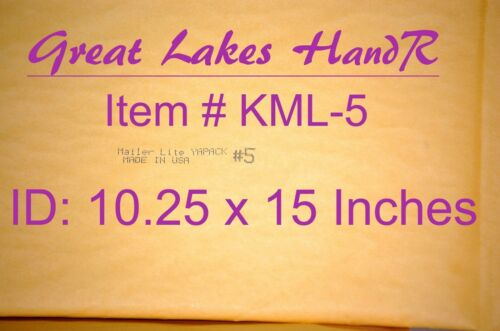 "8 KML-5 Self-Sealing Kraft Bubble Cushioned Envelope Mailers 11 1//2/"" X 15 1//2/"""