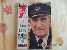 TELE 7 JOURS N°522 25/04/1970 CHARLES VANEL APOLLO 13    J27