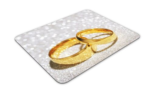 Ring Wedding Present Gift Computer #8676 Beautiful Wedding Rings Mouse Mat Pad