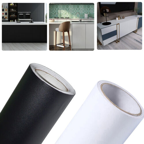 Self Adhesive Wallpaper Wall Stickers PVC Furniture Wrap Kitchen Cupboard Cover