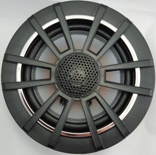 "Marinavox 6/"" Full Range Marine Audio Speaker VX-164BX2 Boat Spa PAIR Spoke BLK"