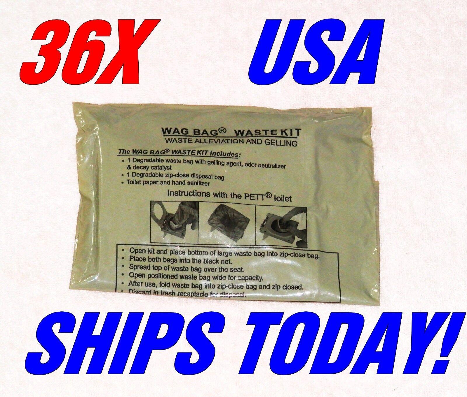 36 USGI Surplus WAG bags Envinronmental Solid Waste Disposal Ice Fishing