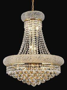 Modern golden hanging k9 crystal chandelier pendant light 5066cm uk image is loading modern golden hanging k9 crystal chandelier pendant light aloadofball Image collections