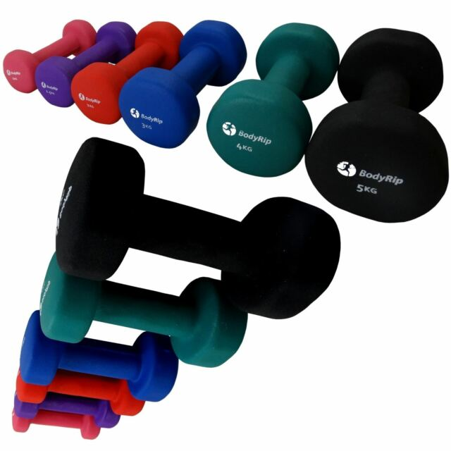 046a2b25f18 BodyRip Fitness Neoprene Neo Hand Weights Dumbbells 1 X 4kg Exercise ...