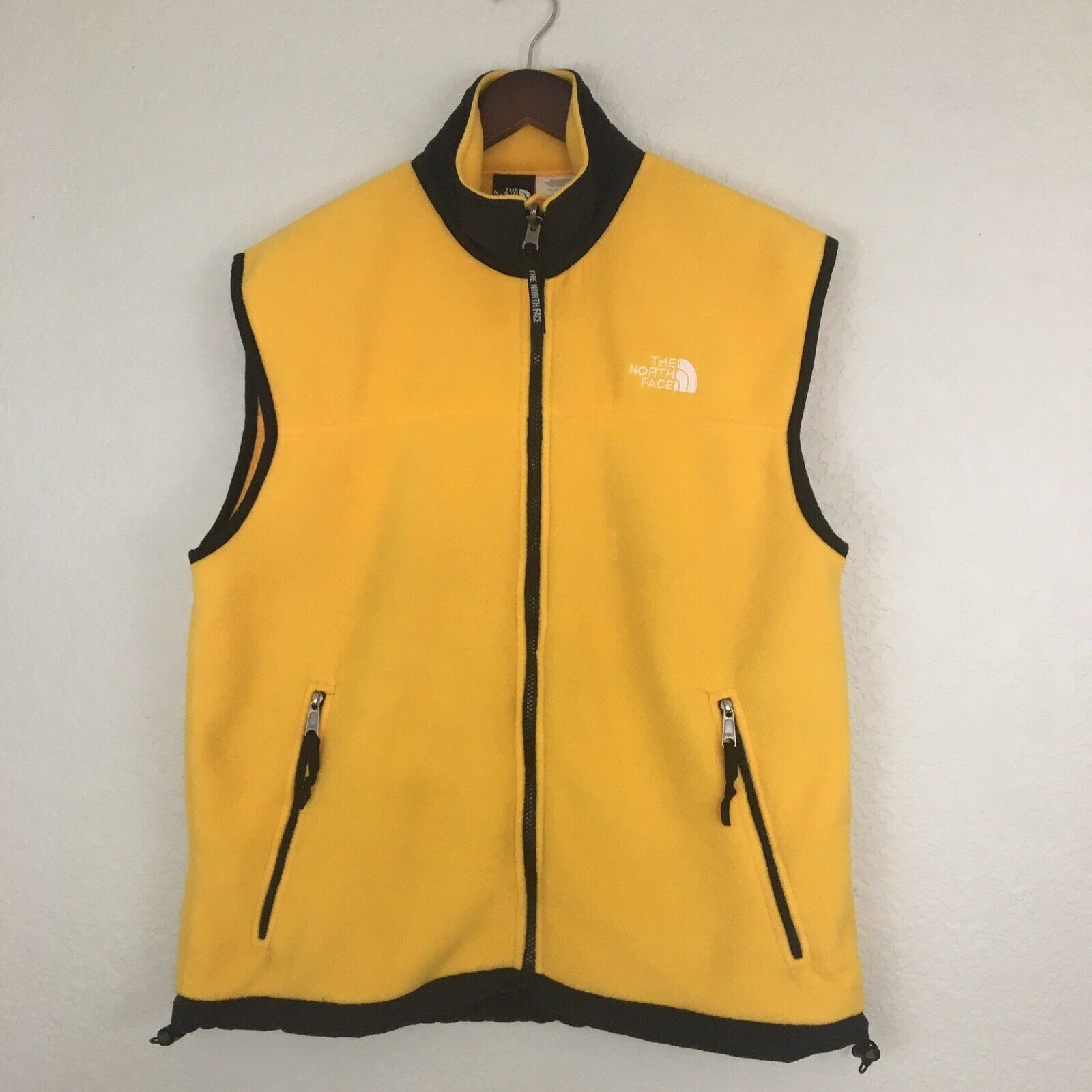 The North Face Yellow Fleece Vest Womens Size Large