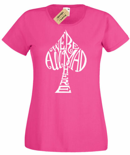 Damen We/'Re Alle Mad Hier Alice Im Wunderland T-Shirt Damen Top Geschenk