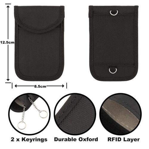 Latest Keyless Fob Blocking Pouch Signal Blocker Car key Bag UK RFID Technology