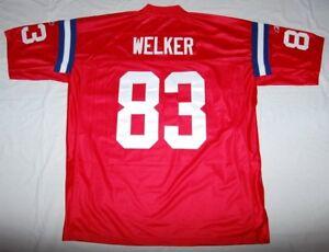 WES WELKER NEW ENGLAND PATRIOTS REEBOK NFL SEWN JERSEY RED 2XL   eBay