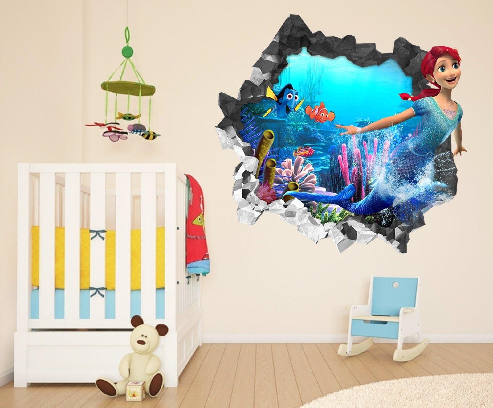3D Meerjungfrau 238 Mauer Murals Mauer Aufklebe Decal Durchbruch AJ WALLPAPER DE