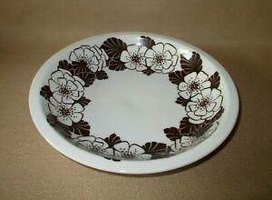 Scherzer-Bavaria-Suppenteller-D-20-5-cm-Malmoe-braune-Blumen