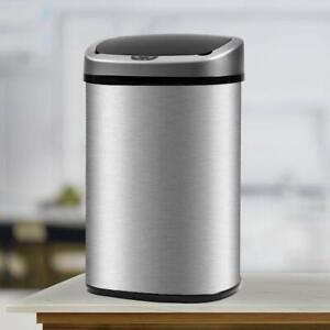 New-13-Gallon-Touch-Free-Sensor-Automatic-Touchless-Trash-Can-Kitchen-Office
