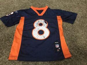 63c4aa33 Reebok Jersey Kids Denver Broncos #8 NFL Football small | eBay