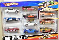 HOT WHEELS 2010 10 CAR PACK BUGATTI SALEEN PONTIAC COBRA ACURA NSX