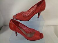 Carvela Red Fabric Evening Shoe - Size 5 - In Box (tr)