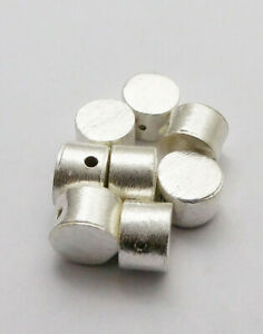30 PCS 16MM SPACER BRUSHED BALL STERLING SILVER  PLATED   CMN-196