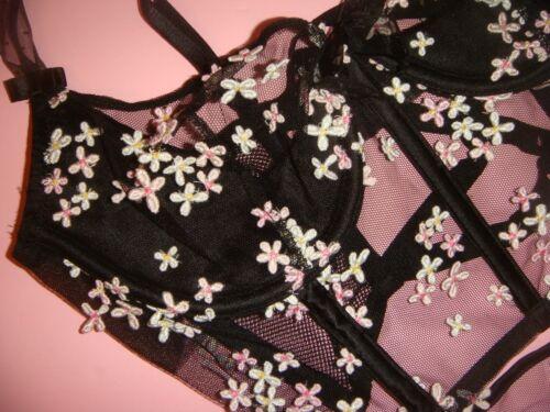 Reggiseno Secret Victoria's Floreale Collezione Set 34b Rosa Designer Nero IUFRwFx