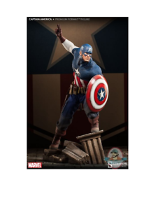 Captain America Allied Charge on Hydra Premium Format Figure Used JC