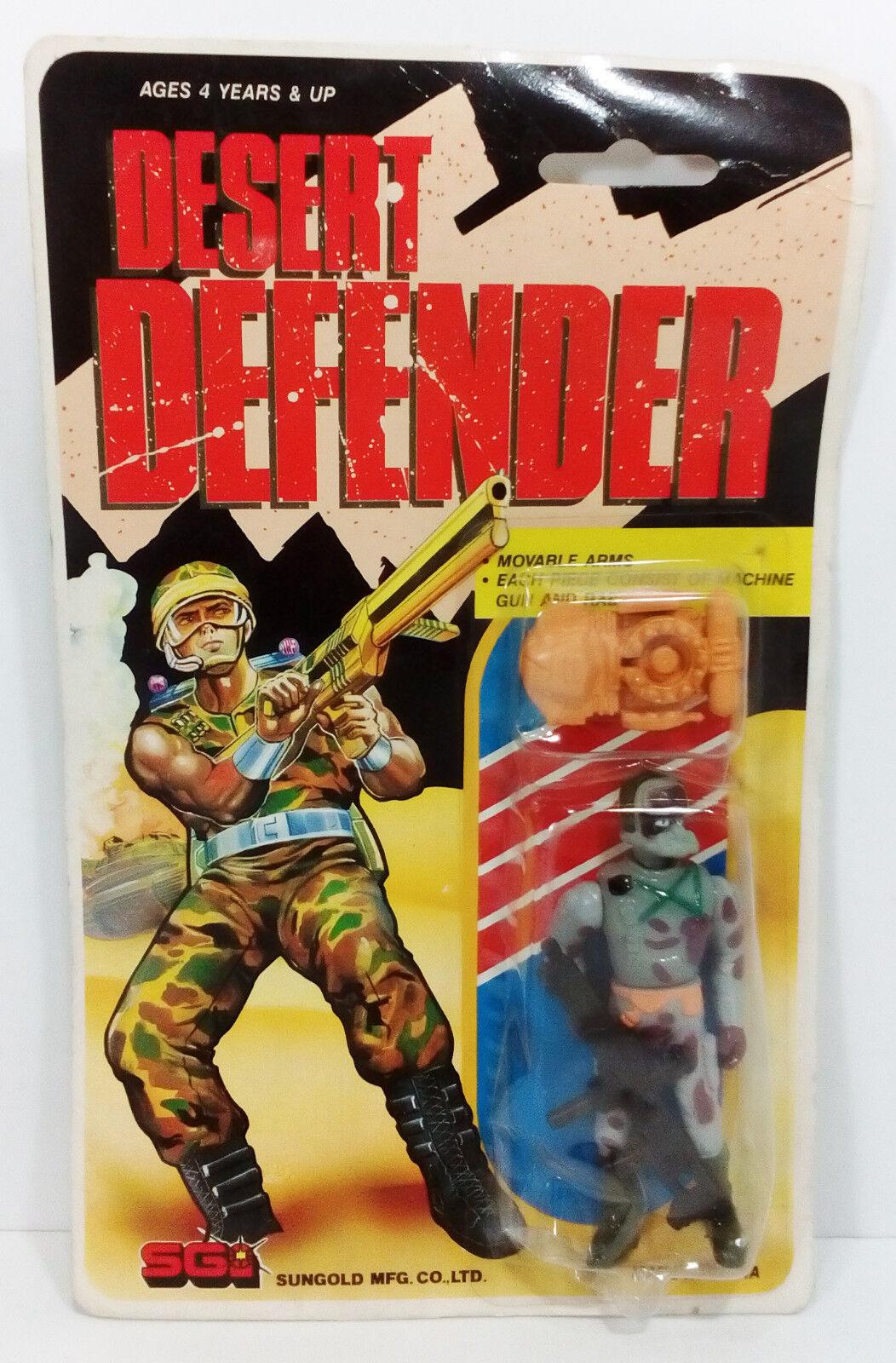 VTG 80'S GI JOE GIJOE KO DESERT DEFENDER ACTION FIGURE SGI SUNgold MOSC MOC 3