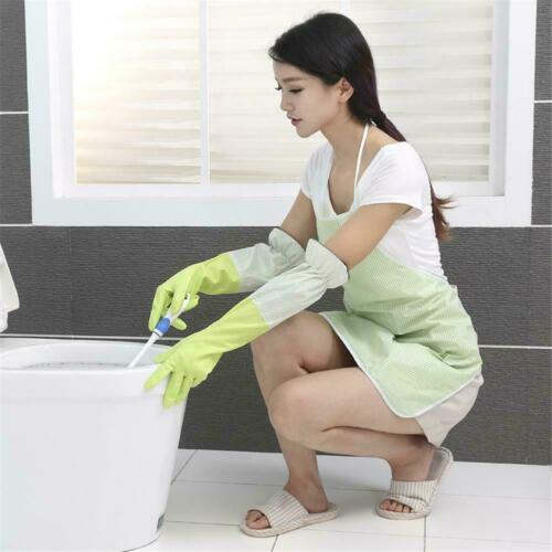 Waterproof Household Glove Clean Dishwashing Cleaning Washing Long Rubber G N6N4