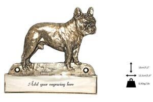 Bouledogue Français - Plaque De Laiton Avec Un Chien 'welcome' Art Dog Fr Type 2