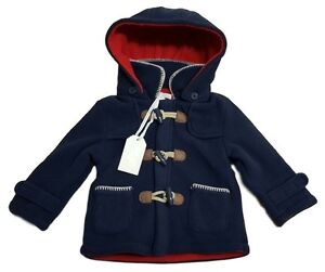 Baby Boys Duffle Coat Jacket Paddington Bear Hooded ZipZap ...