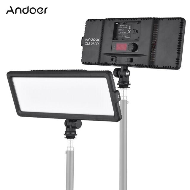 Andoer 148 LED Video Light Panel Cold Shoe Studio Lighting For Canon Nikon Z8W7