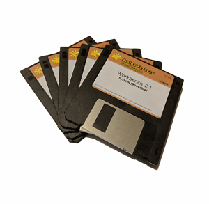 Details about New Amiga OS Workbench 2 1 Disk Set Cloanto Edition 3 5