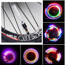 10 Pack Bike Wheel Tyre Spoke Valve Cap Neon 5 LED Lights Lamp 32 Modes Bicycle