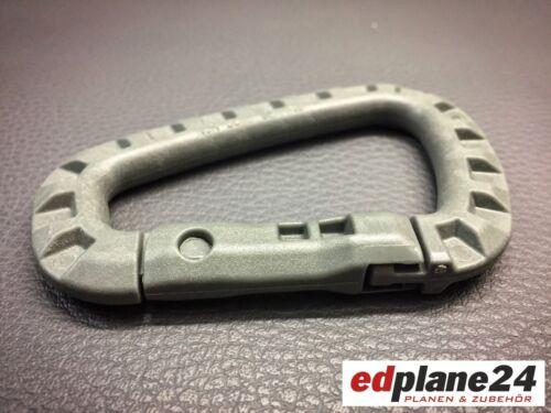 1 x Karabiner Kunststoff ca.olivgrün glasfaserverstärkt Schlüsselanhänger