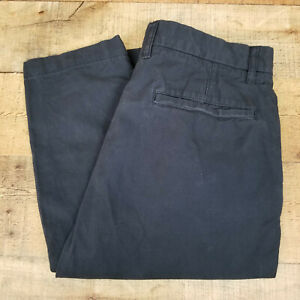 H-amp-M-LOGG-Chino-Pants-Deep-Navy-Blue-Slim-Fit-100-Cotton-Slant-Pocket-Size-32