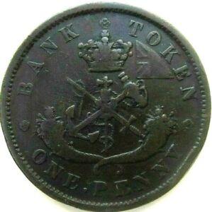 CANADA-COINS-ONE-PENNY-1852-BANK-OF-UPPER-CANADA-BANK-TOKEN