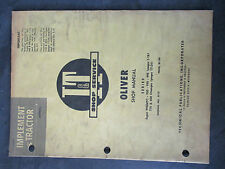 Oliver 99gmtc 950 990 995 770 880 Tractor Shop Manual