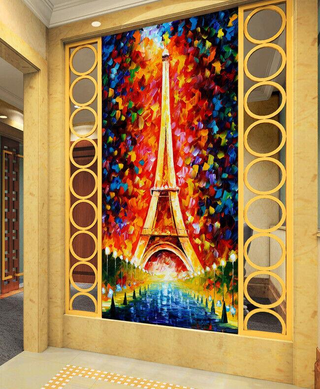 3D Eiffelturm M3257 Tapete Wandbild Selbstklebend Abnehmbare Aufkleber Amy